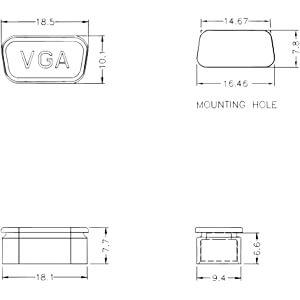 Staubschutz für VGA Buchse, 10 Stück transparent DELOCK 60162