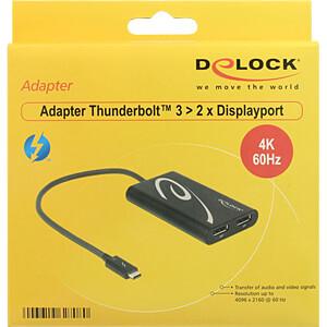 Adapter Thunderbolt™ 3 Stecker auf 2x DP Buchse DELOCK 62708