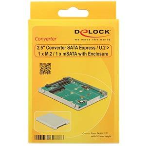 Konverter SATA-Express / U2 > M.2 / mSATA DELOCK 62786