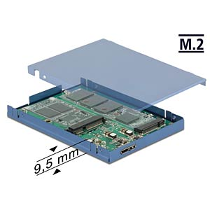 Konverter USB 3.1 > M.2 + mSATA DELOCK 62787