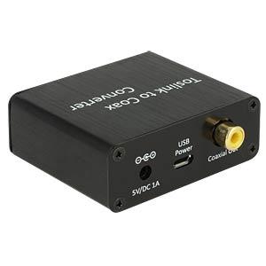 Digital Audio Konverter, Toslink Buchse auf Koaxiale Buchse DELOCK 62789