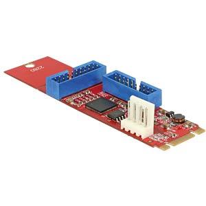 Konverter M.2 Key B+M > 2 x USB 3.0 DELOCK 62843