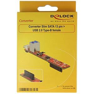 Konverter Slim SATA 13 Pin > USB 3.0 Typ-B DELOCK 62857