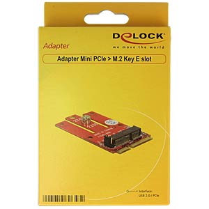 Adapter Mini PCIe > gniazdo M.2 z kluczem E DELOCK 62858