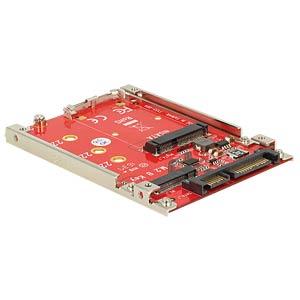 Konverter SATA 22 Pin > M.2 / mSATA DELOCK 62859