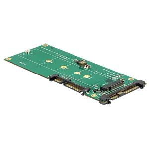 Konverter SATA 22 Pin + U.2 SFF-8639 > M.2 Key M DELOCK 62864