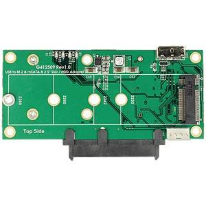 Konverter USB 3.1 micro-B > SATA / M.2 / mSATA DELOCK 62867