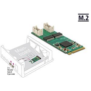 Konverter M.2 Key M > 2 x seriell RS232 DELOCK 62871
