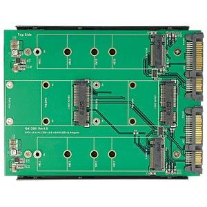 Konverter 2 x SATA 22 Pin > Dualport 2 x M.2 / 2 x mSATA DELOCK 62946