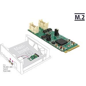 Konverter M.2 Key M > 2 x seriell RS422/485 DELOCK 62948