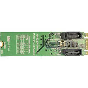 Konverter M.2 Key B+M > 2 x SATA, RAID DELOCK 62961