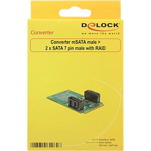 Konverter mSATA > 2 x SATA, RAID DELOCK 62962