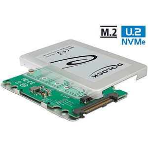 Delock Konverter U.2 SFF-8639 > M.2 Key M PCIe, 2.5 Gehäuse DELOCK 62987