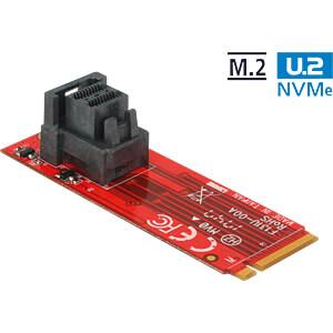 Adapter M.2 Key M > SFF-8643 Buchse vertikal NVMe DELOCK 63339