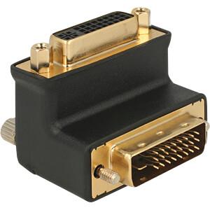 DVI Adapter, DVI 24+5 Buchse auf DVI 24+1 Stecker, gewinkelt DELOCK 65866