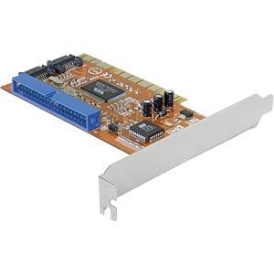 PCI SATA controller, 2 x internal, 1xATA DELOCK 70146