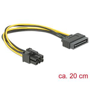 DELOCK 82924 - Kabel SATA 15 Pin St > 1x 6 Pin PCI Express