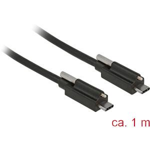 USB 3.1 Kabel, C Stecker auf C Stecker, Schraube oben, 1 m DELOCK 83719
