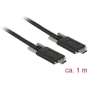 USB 3.1 Kabel, C Stecker auf C Stecker, Schrauben seitlich, 1 m DELOCK 83720
