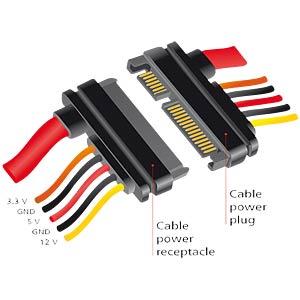 Verlängerungskabel SATA 22-Pin 20 cm DELOCK 84918