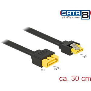 SATA 6 Gb/s Buchse auf SATA Stecker Pin 8 Power, 30 cm DELOCK 84946