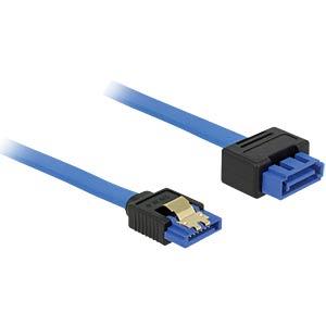 SATA 6 Gb/s Buchse gerade > SATA Stecker, gerade 50 cm blau DELOCK 84973