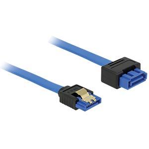SATA 6 Gb/s Buchse gerade > SATA Stecker, gerade 70 cm blau DELOCK 84974