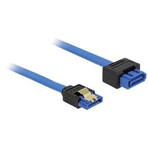 SATA 6 Gb/s Buchse gerade > SATA Stecker, gerade 100 cm blau DELOCK 84975