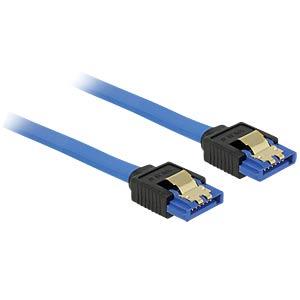 SATA 6 Gb/s Buchse gerade > SATA Buchse, gerade 20 cm blau DELOCK 84977