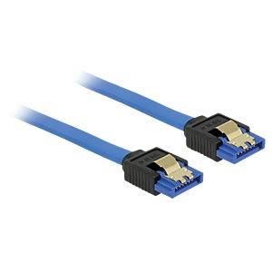 SATA 6 Gb/s Buchse gerade > SATA Buchse, gerade 50 cm blau DELOCK 84979