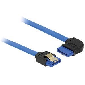 SATA 6 Gb/s Buchse gerade > SATA Buchse rechts 20 cm blau DELOCK 84989