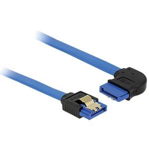 SATA 6 Gb/s Buchse gerade > SATA Buchse rechts 50 cm blau DELOCK 84991