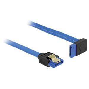 SATA 6 Gb/s Buchse gerade > SATA Buchse, oben 30 cm blau DELOCK 84996