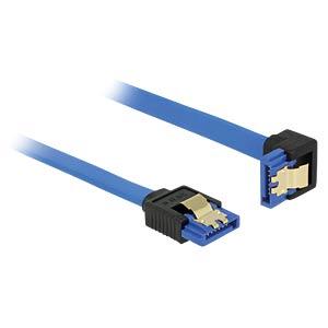 SATA 6 Gb/s Buchse gerade > SATA Buchse, unten 70 cm blau DELOCK 85092