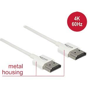 High Speed HDMI Kabel mit Ethernet, 4K, 0,5 m DELOCK 85121