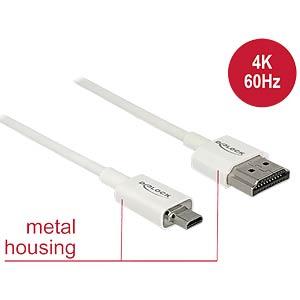 HDMI-A Stecker > HDMI Micro-D Stecker 4K 0,25 m DELOCK 85147