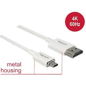 HDMI-A Stecker > HDMI Micro-D Stecker 4K 3 m DELOCK 85152