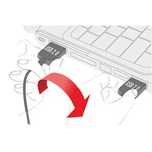 USB 2.0 Kabel, EASY A Stecker auf Micro B Stecker, 0,5 m DELOCK 85156