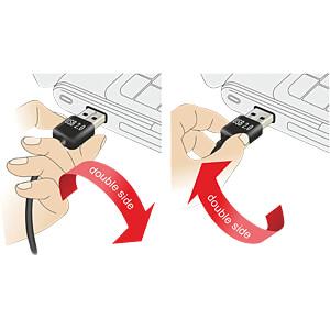 USB 2.0 Kabel, EASY A Stecker auf Mini B Stecker, 0,5 m, weiß DELOCK 85159