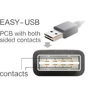 USB 2.0 Kabel, EASY A Stecker gew. auf B Stecker, 0,5 m DELOCK 85167