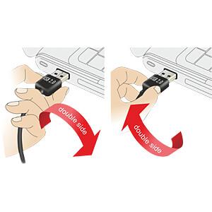 USB 2.0 Kabel, EASY A Stecker gew. auf A Buchse, 0,5 m, weiß DELOCK 85178