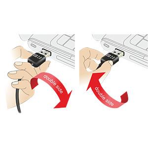 USB 2.0 Kabel, EASY A Stecker gew. auf A Buchse, 5 m, weiß DELOCK 85190