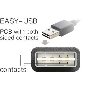 USB 2.0 Kabel, EASY A Stecker gew. auf Micro B Stecker, 0,5 m DELOCK 85203