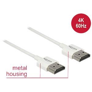 High Speed HDMI Kabel mit Ethernet, 4K, 1,5 m DELOCK 85126
