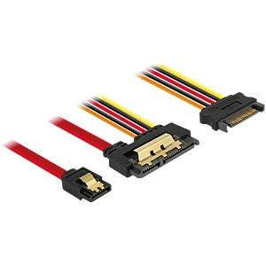 SATA 6 Gb/s Buchse + SATA 15 Pin > SATA DELOCK 85228