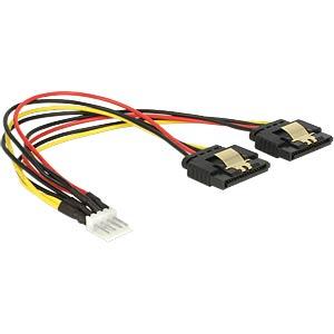 Floppy 4 Pin Stecker > 2 x SATA 15 Pin Buchse DELOCK 85236