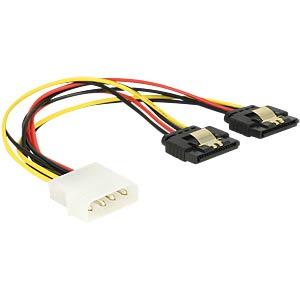Molex 4 Pin Stecker > 2 x SATA 15 Pin Buchse DELOCK 85237