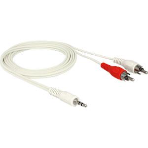 Audio Kabel,  3,5 mm Klinkenstecker auf 2x Cinch Stecker, 1,5 m DELOCK 85308