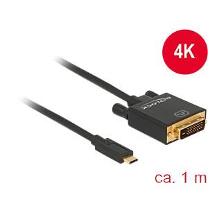 USB Kabel, C Stecker auf DVI 24+1 Stecker, DP-Alt Mode, 1 m DELOCK 85320