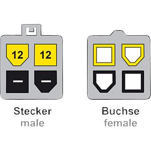Power P4 Stecker > P4 Buchse Verlängerung 50 cm Mainboard DELOCK 85458